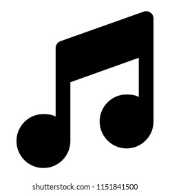 Eighth note of music language is used for music note icon