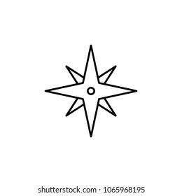eight-pointed star icon. Element of simple icon for websites, web design, mobile app, info graphics. Thin line icon for website design and development, app development on white background