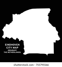 Eindhoven, Brabant, The Netherlands city map vector
