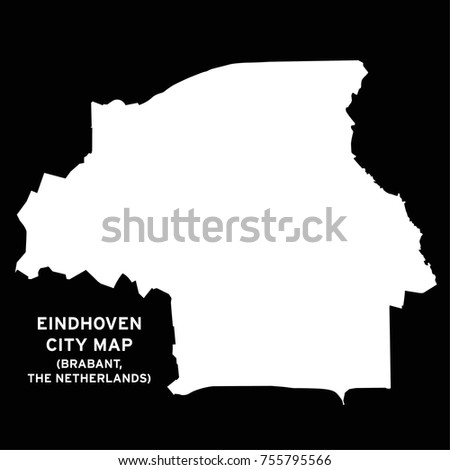 Eindhoven Brabant Netherlands City Map Vector Stock Vector (Royalty ...