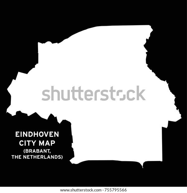 Eindhoven Brabant Netherlands City Map Vector Stock Vector ...
