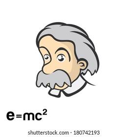Einstein character cartoon