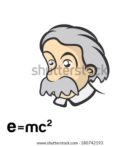 Einstein character cartoon