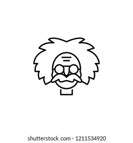 einstein icon. Element of science illustration. Thin line illustration for website design and development, app development. Premium outline icon on white background