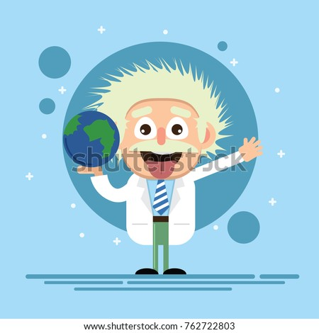 Einstein Kid cartoon illustration