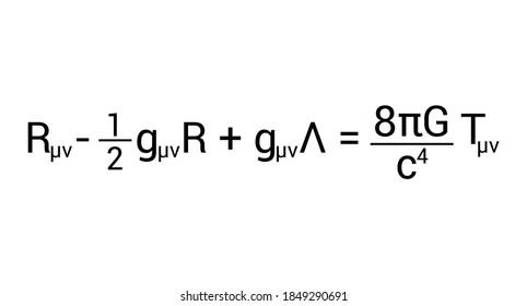 einstein's field equation on white background