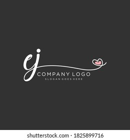 EJ Beauty vector initial logo, handwriting logo of initial signature, wedding, fashion, jewelry, boutique, floral and botanical with creative template for any company or business.