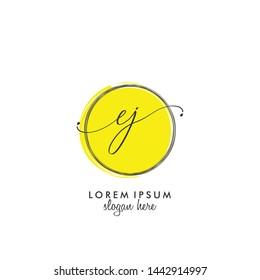 EJ Initial beauty monogram logo vector