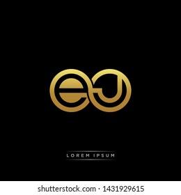 EJ initial letter linked circle capital monogram logo modern template