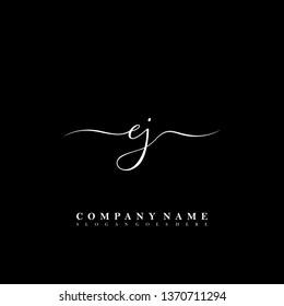 EJ Initial luxury handwriting logo vector