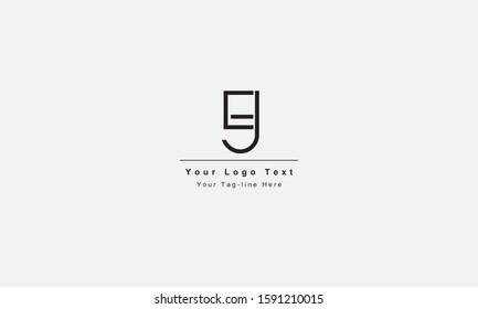 EJ JE letter logo. Unique attractive creative modern initial EJ JE E J initial based letter icon logo