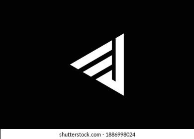 EJ letter logo design on luxury background. JE monogram initials letter logo concept. EJ icon design. JE elegant and Professional white color letter icon design on black background.