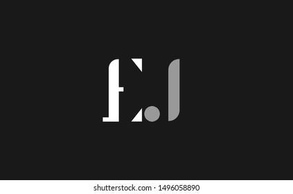 EJ letter Logo Design Template Vector