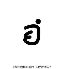 ej letter logo vector