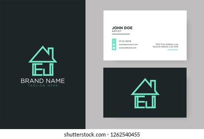 EJ Letter Real Estate Logo Design - Real estate logo