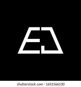 EJ logo abstract monogram isolated on black background