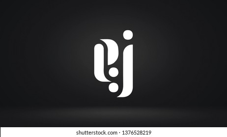 EJ logo design template vector letter