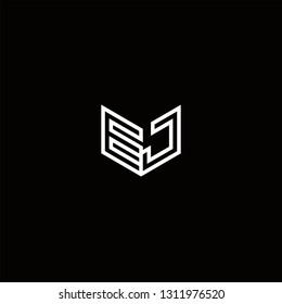 EJ Logo Letter initial Designs Templete