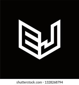 EJ Logo Letter Initial Monogram Capital Designs Templete