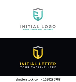 EJ logo set and DJ modern graphic design, Inspirational logo design for all companies. -Vectors