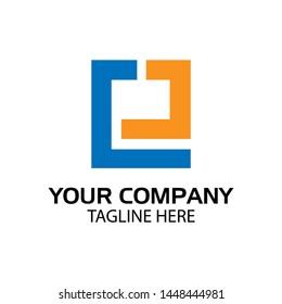 EJ logo template, EJ letter, flat design. vector