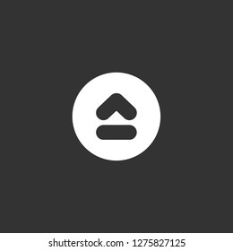 eject icon vector. eject vector graphic illustration