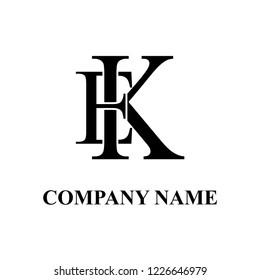 EK Company initial logo design