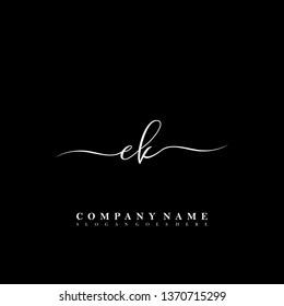 EK Initial luxury handwriting logo vector