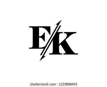 EK initials logo sliced