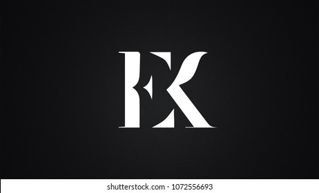 EK Letter Logo Design Template Vector