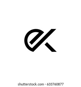 ek letter vector logo