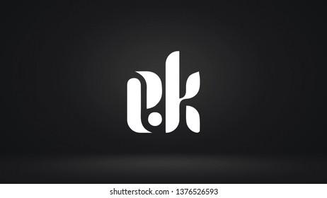EK logo design template vector letter
