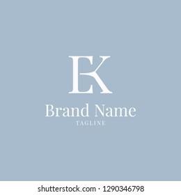 EK logo elegance skyblue