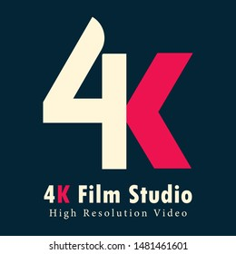 EK logo . simple video 4K logo . 4k Ultra Hd icon. Vector 4K UHD TV symbol of High Definition monitor display resolution standard.