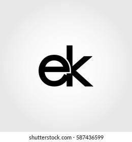 ek lowercase logo black interrelated