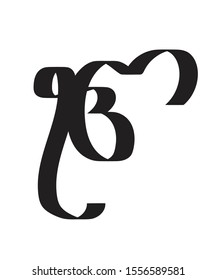 Ek onkar calligraphy vector graphic sybmol design.