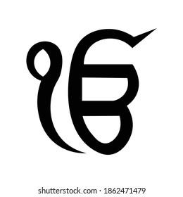 ek onkar icon design vector illustration.