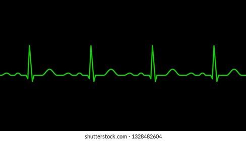 Ekg line. Heartbeat. Electrocardiography. Seamless line. Healthy heart. Medical design. Vector illustration.