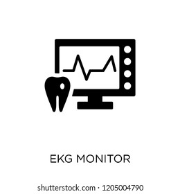 Ekg monitor icon. Ekg monitor symbol design from Dentist collection. Simple element vector illustration on white background.