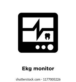 Ekg monitor icon vector isolated on white background, logo concept of Ekg monitor sign on transparent background, filled black symbol