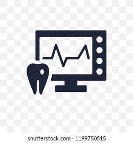 Ekg monitor transparent icon. Ekg monitor symbol design from Dentist collection. Simple element vector illustration on transparent background.