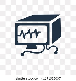 Ekg monitor vector icon isolated on transparent background, Ekg monitor transparency concept can be used web and mobile