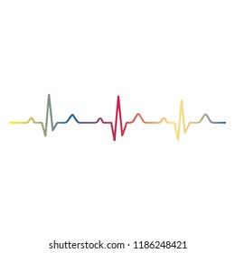 EKG signal on white background.vector.EPS10