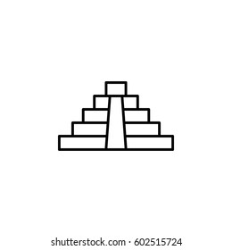 El Castillo pyramid in flat icon for apps and websites