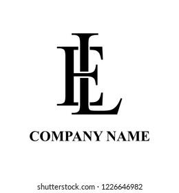 EL Company initial logo design