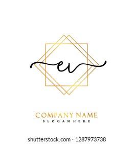 EL Initial Handwriting logo template vector