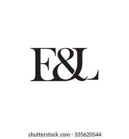 E&L Initial logo. Ampersand monogram logo