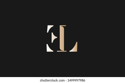 EL Letter Logo Design with Creative Modern Trendy Typography