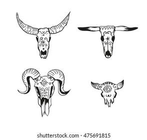 El muertos animal skulls