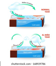 El Nino Southern Oscillation (ENSO) is a global phenomenon in ocean and atmosphere. For an unknown reason El Nino events occur irregularly. The effects of El Nino change global weather patterns.